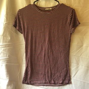 Red white and blue stripped t-shirt
